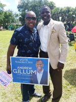 Andrew Gillum at Stuart Memorial Park - October 2018